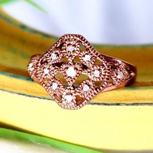 Jewelry - Genuine Diamond Cluster Ring